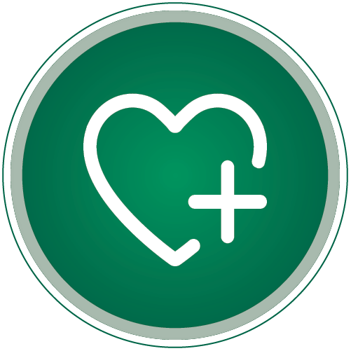 BancorpSouth Cares Logo in Green and White