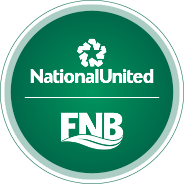 National United  and FNB Logos in white with a green background