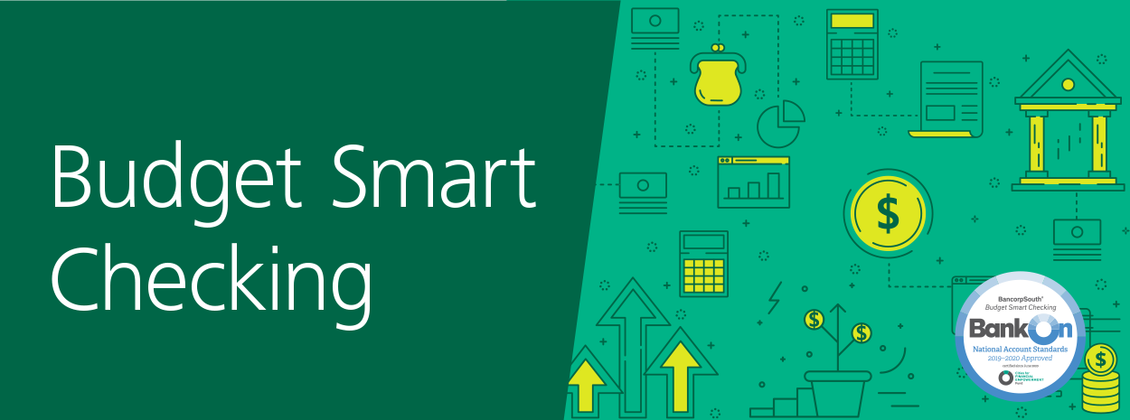 Budget Smart Checking green yellow and white header image