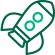 Green rocket Icon