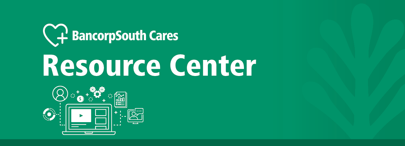 BancorpSouth Cares Resource Center Header