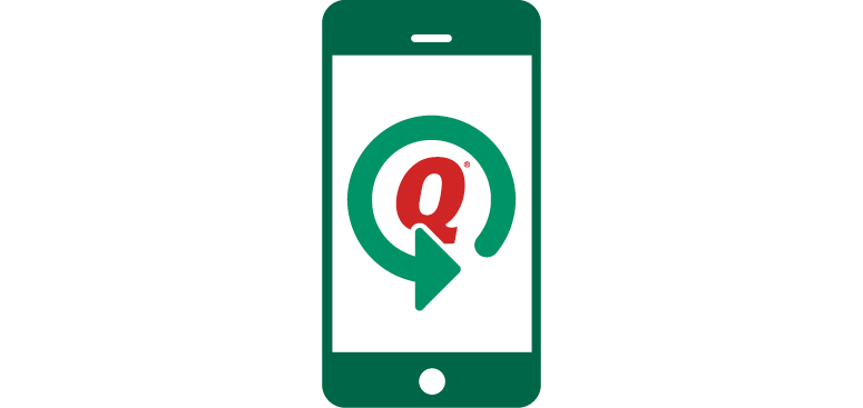 Green phone with the Quicken logo