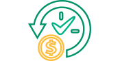 Green and gold savings icon