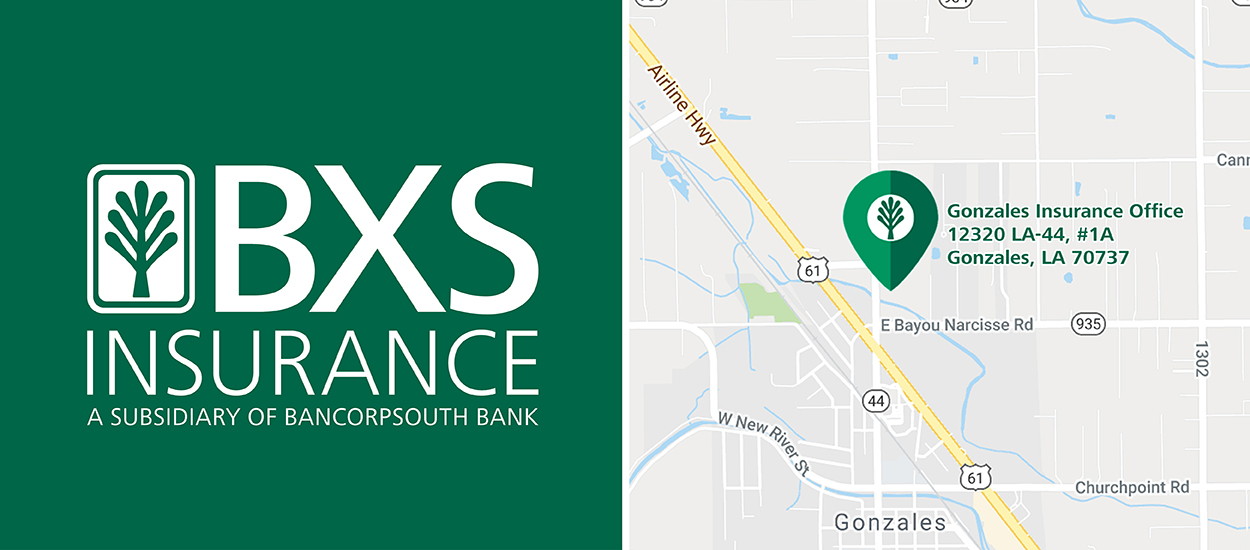 BancorpSouth Map of Gonzales Insurance Office