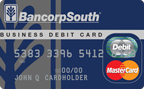 BANCORP SOUTH BUSINESS DEBIT CARD NAVY